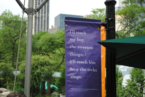 Poetry at Central Park Zoo