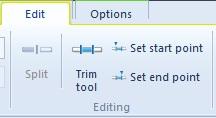 Windows Live Movie Maker - Trim Tool