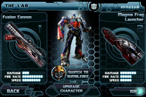 Transformers Dark of the Moon app