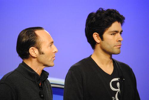 Peter Glatzer and Adrian Grenier