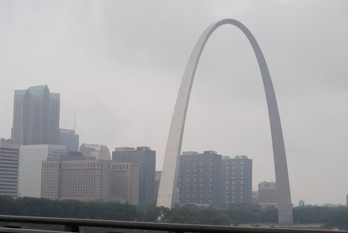 St Louis Arch and downtown