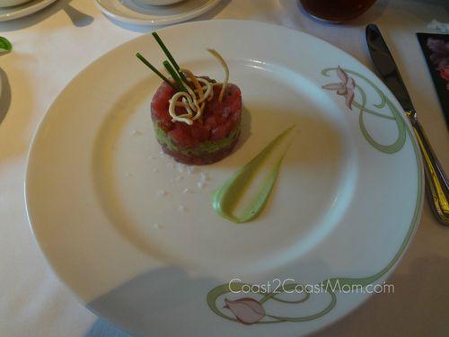 Disney Fantasy Tuna Tartare Avocado