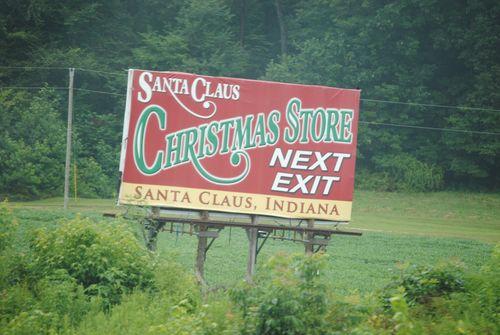Indiana Santa Claus billboard