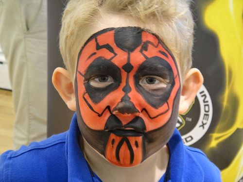 UN FacePaint Darth Maul face