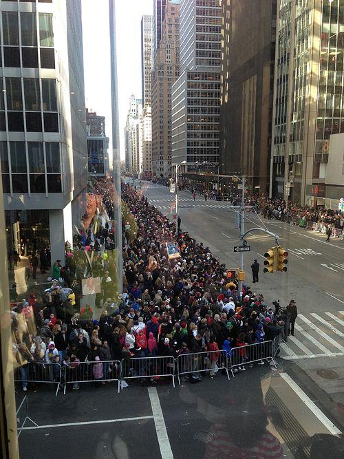 Parade - party view toward Central Park