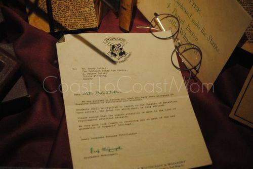 Harry Potter Exhibit Hogwarts Letter Watermarked
