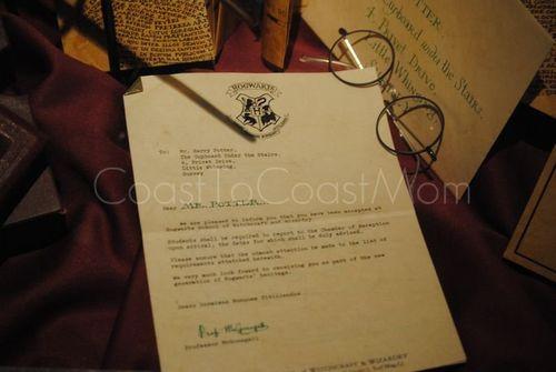 Harry Potter Exhibit Hogwarts Letter Watermarked