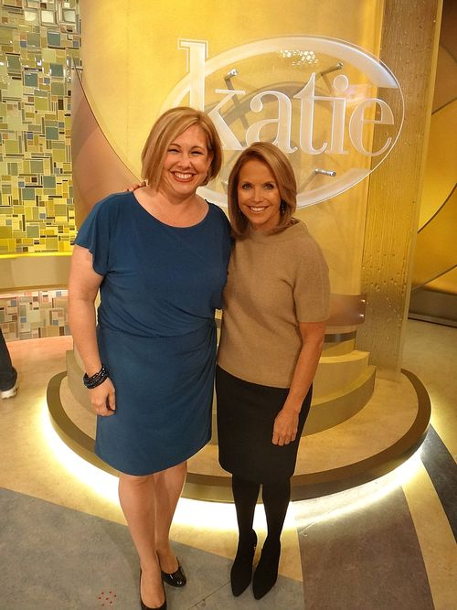 Katie Couric after show pic