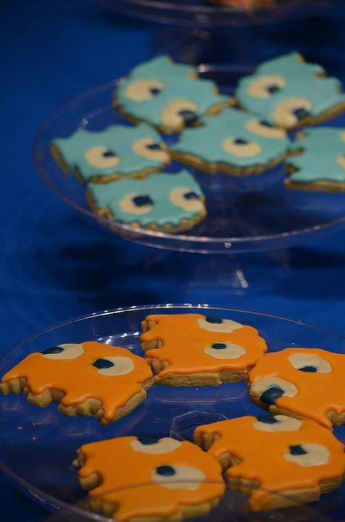 Pacman cookie ghosts